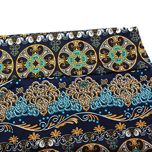 Falda larga maxi de flores, de verano, cintura alta, para playa Ethnic Print