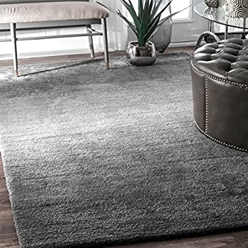 Handmade Modern Solid Ombre Area Rug