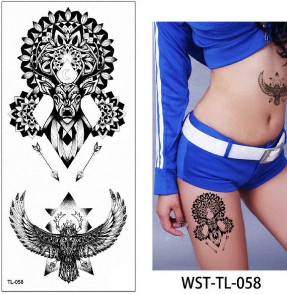 3pcs El Tatuaje Flor de Loto Azul se levantó Etiqueta engomada del ...