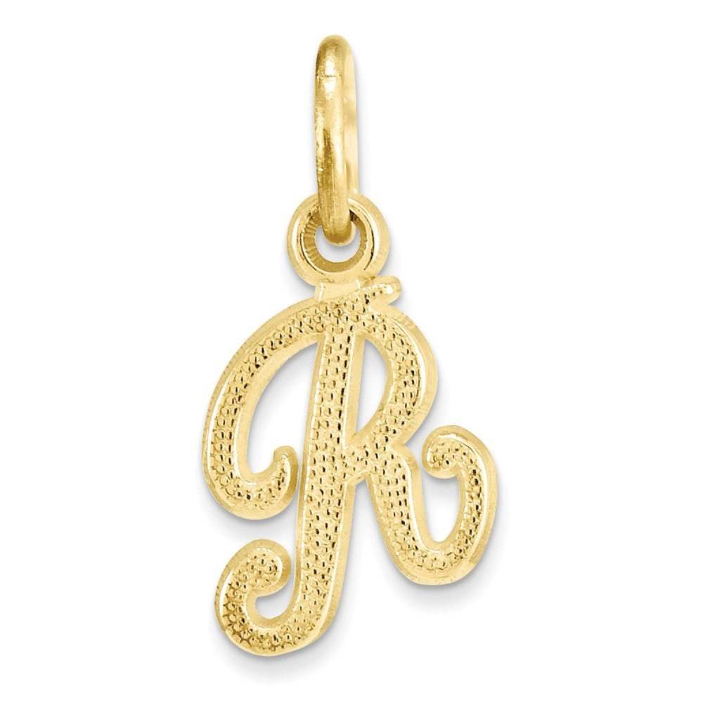 Charms for Bracelets and Necklaces 10k Yellow Gold Initial X Charm