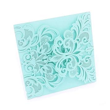 Amazon Com Diy Printable Wedding Invitation Invite Mint Blue Lace