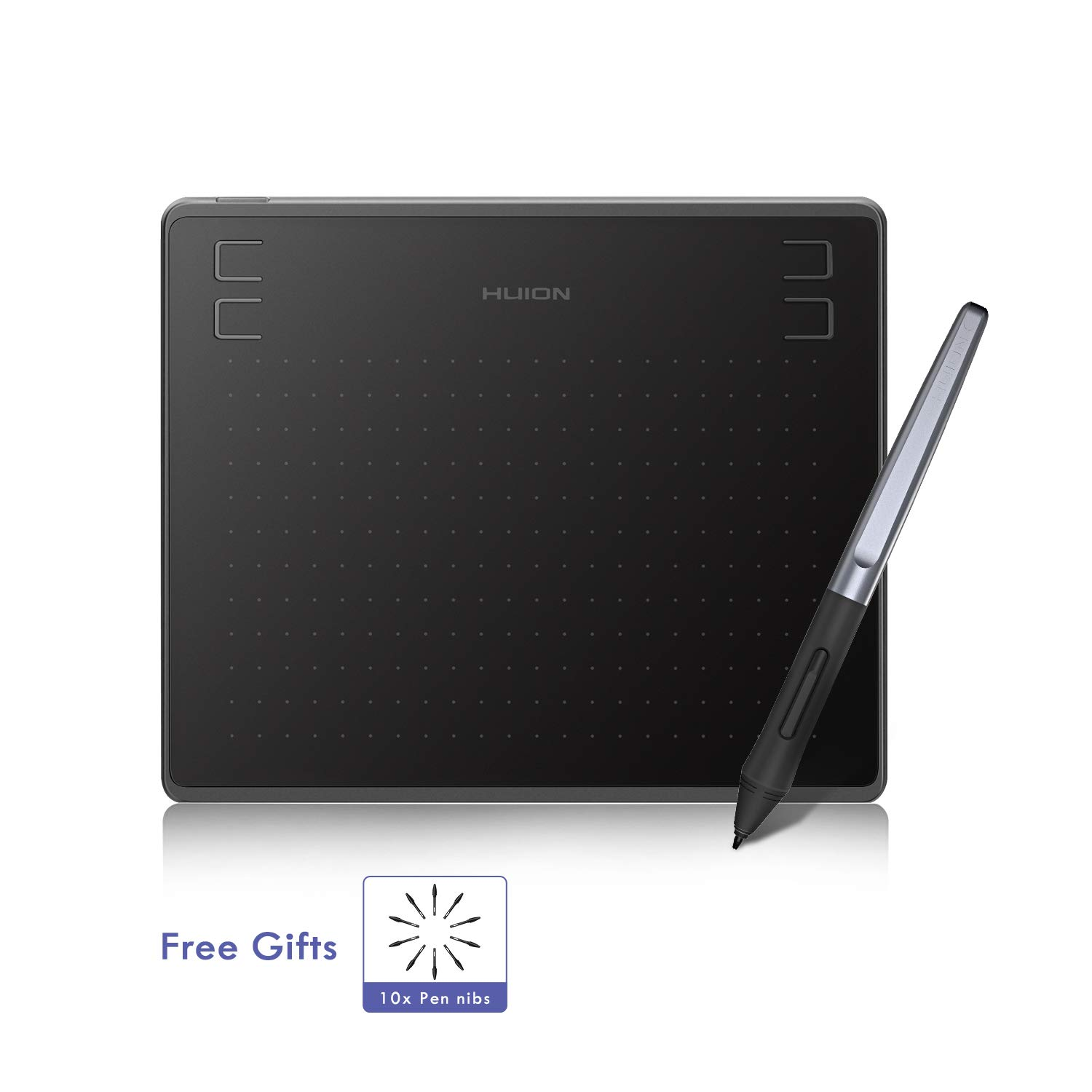 2019 HUION HS64 Drawing Tablet, Graphics Tablet with Battery-Free Stylus, 8192 Levels Pressure Sensitivity, 4 Express Keys, 6.3x4inch Digital Art Tablet for Android Windows Mac