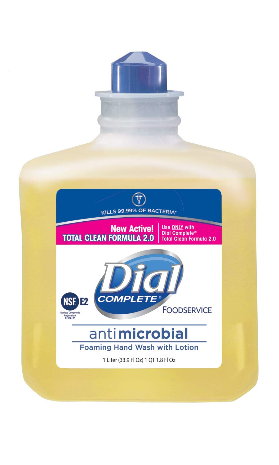 Dial Complete 00034 1 liter Refill Cartridge, Antimicrobial Foaming Hand Soap (Pack of 4)