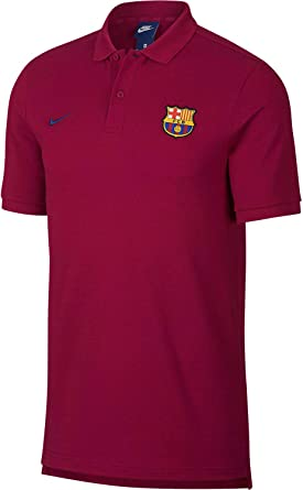 Nike FC Barcelona Polo, Hombre, 892515-620, Noble Red/Deep Royal ...