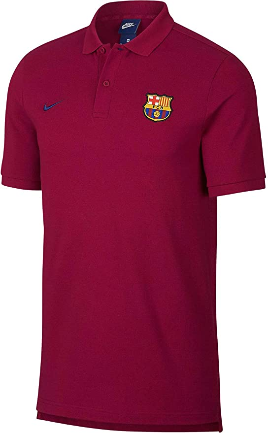 Amazon.com: Nike 2018-2019 Barcelona Core Polo (rojo): Clothing