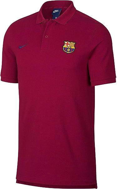 Nike FC Barcelona Polo, Hombre, 892515-620, Noble Red/Deep Royal ...