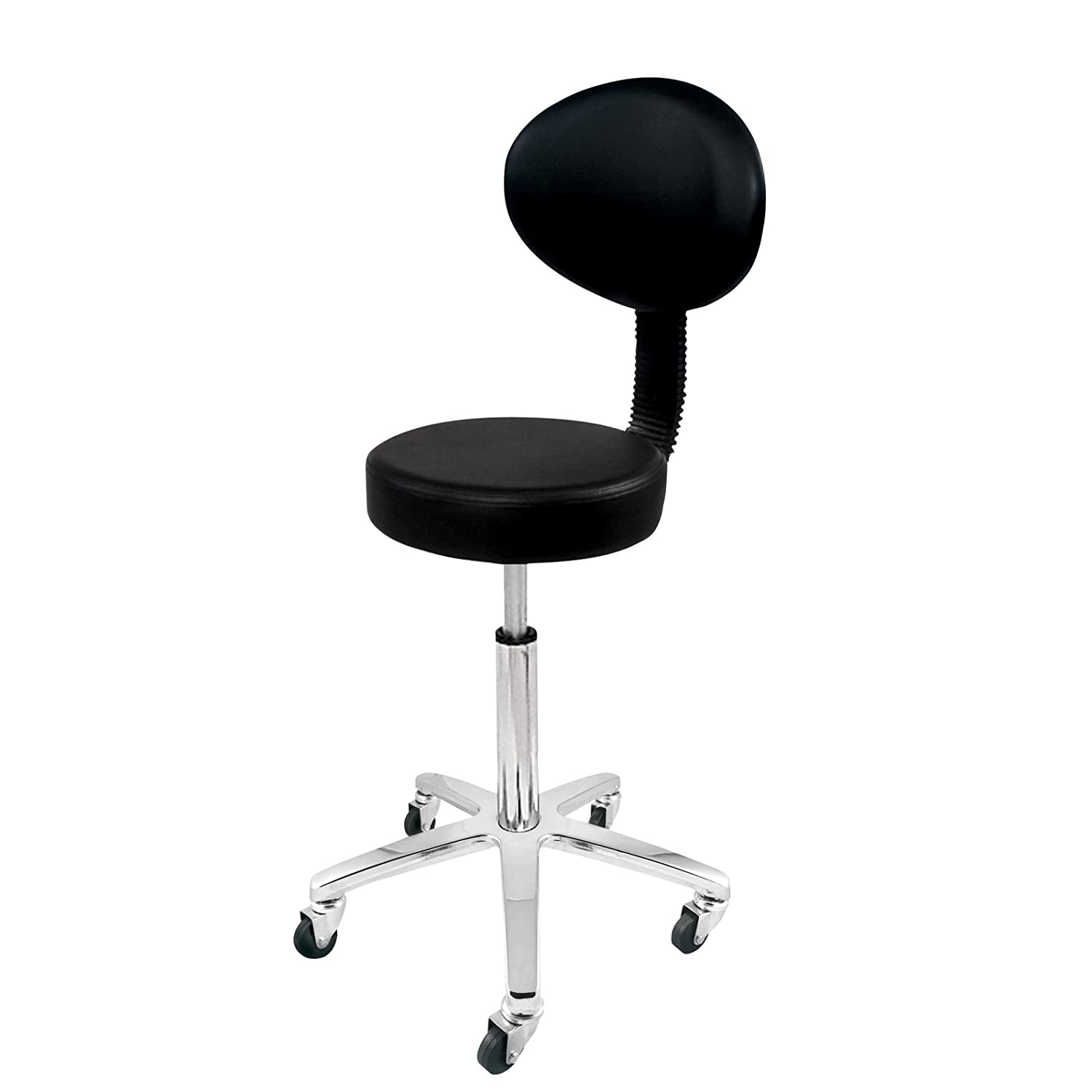 H210456 - Deo Black Cutting Beauty Salon Tatoo Spa Gas Lift Stool with Backrest