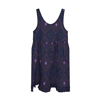 25a369102667 Fresh Produce Girl's Sleeveless Cotton Ruffle Tank Dress (Moonlight  Diamonds, Small)