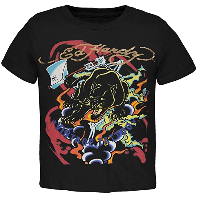 save off 1bee3 e0b97 Amazon.com: Ed Hardy - Panther Vintage Tattoo Juvy T-Shirt ...