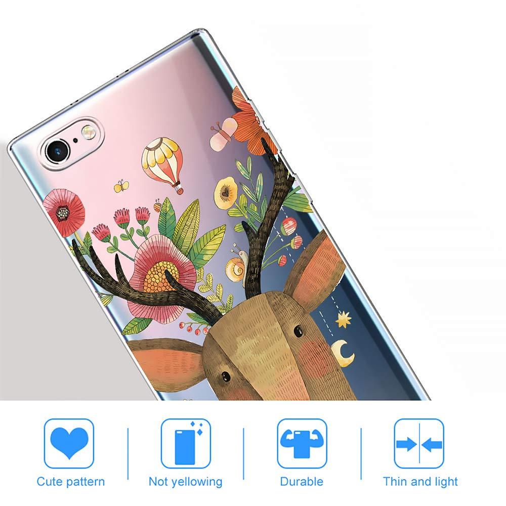 Alce AChris Funda Movil para Xiaomi mi 8 Transparente Silicona con Dibujos Flexible Choque-Absorbente Rasgu/ño-Resistente Ultra-Suave Carcasa Compatible with Xiaomi mi 8