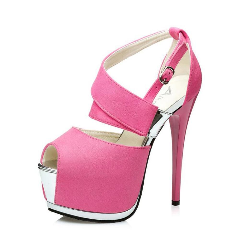Chaussures à Talons Hauts Pour 19992 Femmes avec pink Sandales Talons De Danse à Bouche Creuse pink 1620a04 - piero.space