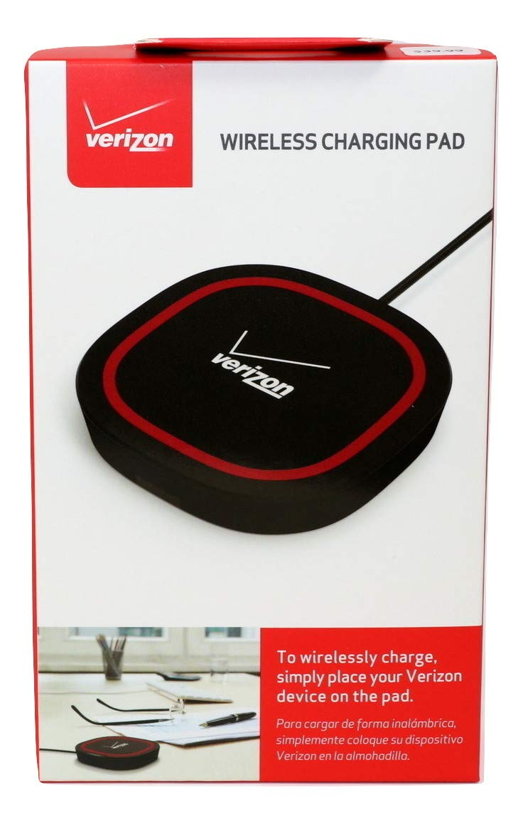sports shoes 1f9ad bee7f Verizon Qi Wireless Charging Pad/Mat/Dock - Universal Charger for  Smartphones & Devices Black/Red