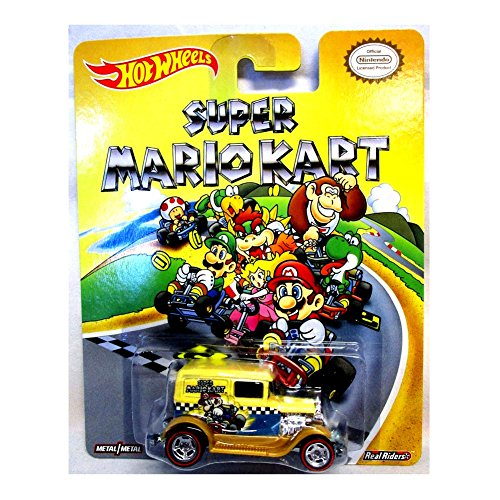 HOT WHEELS NINTENDO SUPER MARIO KART A-OK NEW RARE REAL RIDERS MARIO GO KART SUPER MARIO BROTHERS