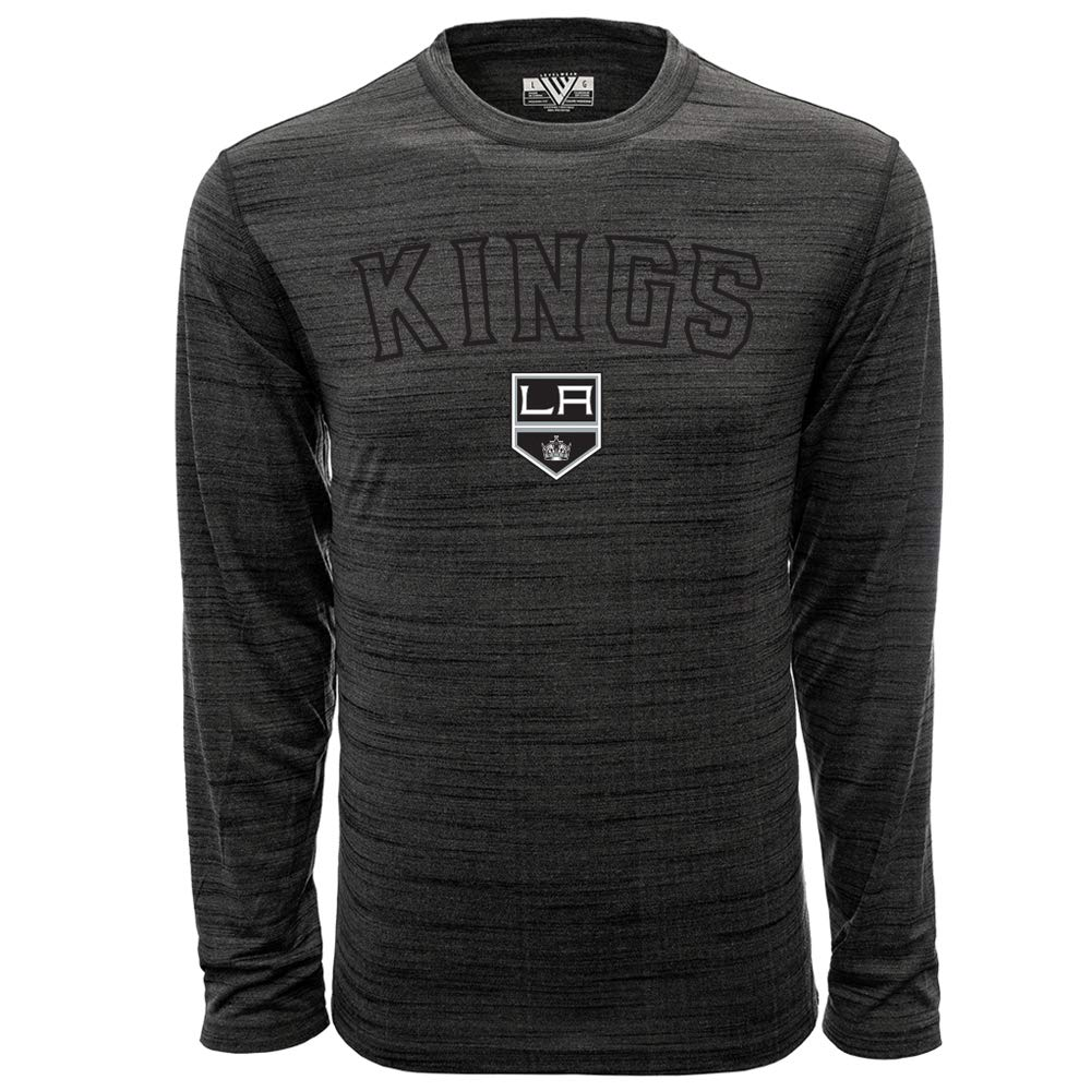 NHL Los Angeles Kings Mens Anchor Arched Outline Mens Long Sleeve Tee X-Large Heather Grey