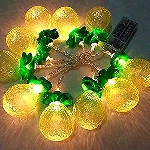 Fefelightup Pineapple Lights String Fariry Lights Battery Powered 165cm(5.4ft)10 LED