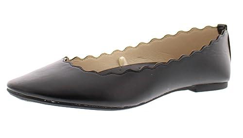 1e7412bb2 Lotta Womens Scalloped Edge Flats,Comfy Pointed Toe Ballet Flat,Cute Dress  Comfort Office