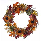 Kurt Adler H4095 24'' Battery-Operated Fall Twig LED Wreath