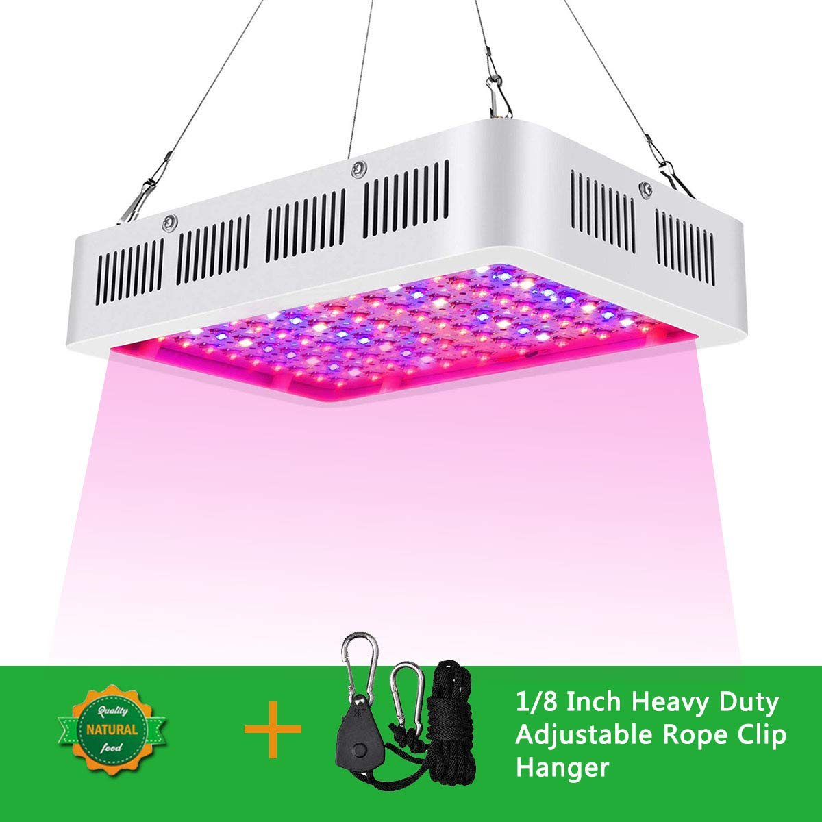 LED Grow Lights 1000W Double Chips Full Spectrum with 4 Years Local Warranty Perfect for Greenhouse Hydroponic Indoor Plants Veg and Flower All Phases of Plant Growth by Anordsem