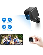 Bluetooth WiFi Mini Spy Cameras, ZZCP Wireless HD 1080P Portable Small Hidden Cameras Nanny Cam with Motion Detection, Night Vision and Bluetooth Speaker, Perfect Tiny IP Security Surveillance CCTV Camera for Outdoor/Indoor