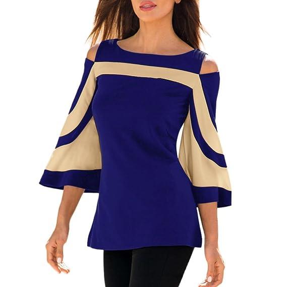 Mujer Blusa Camisa -Beikoard Mujer fría Hombro Manga Larga Sudadera Camiseta Blusa Camisa,Elegante