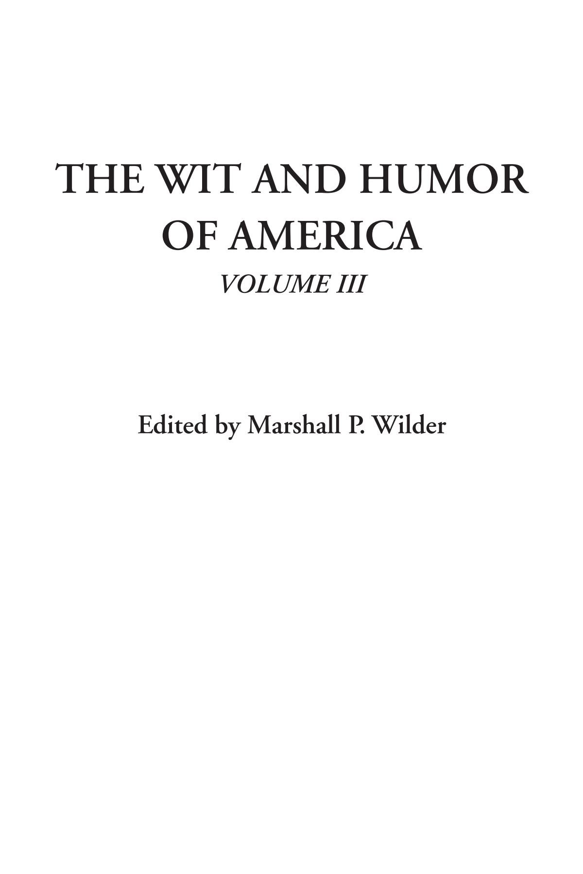 The Wit and Humor of America, Volume III PDF