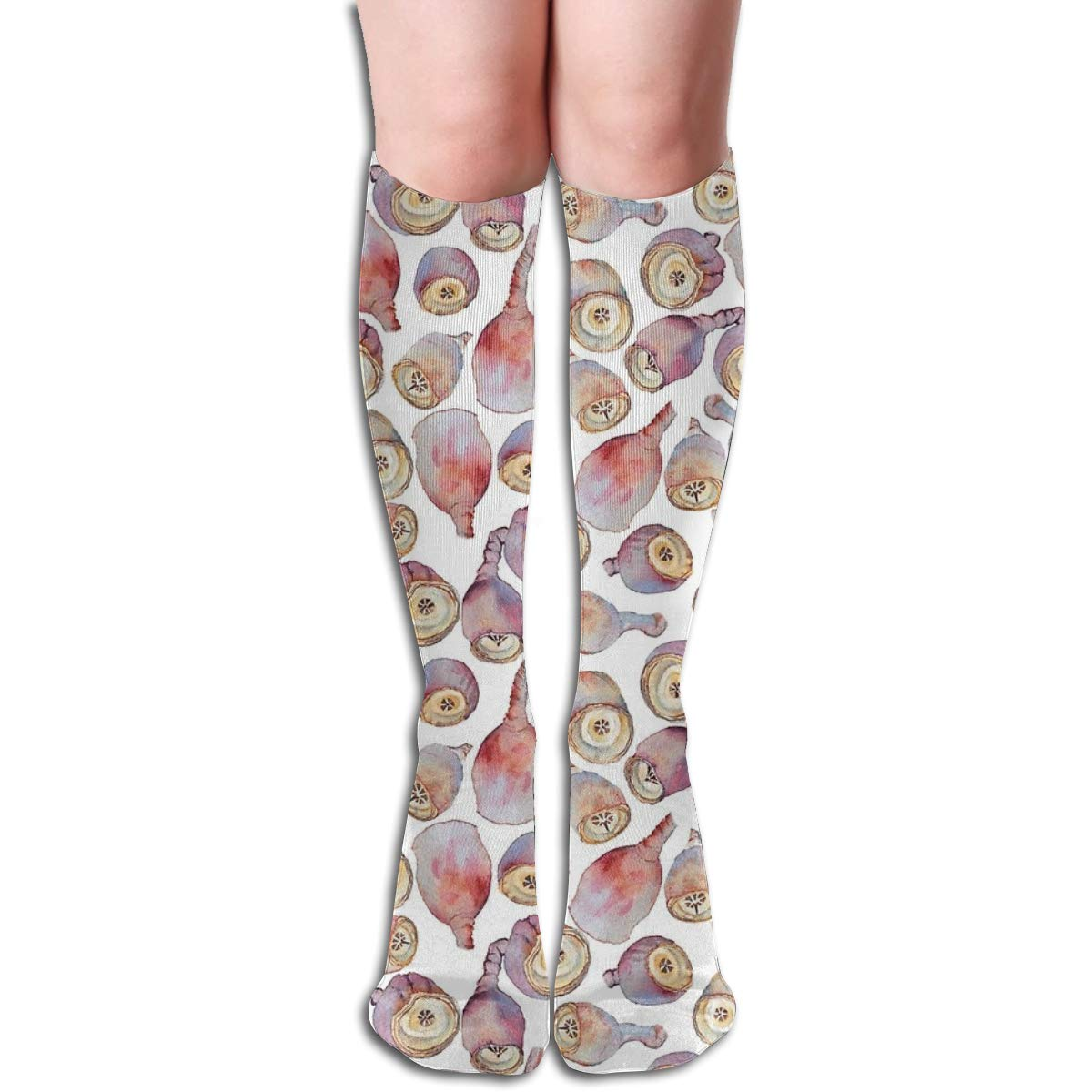 Gumnuts Watercolour white Background Unisex Compression Socks Athletic Tube Stockings Sport Long Socks One Size