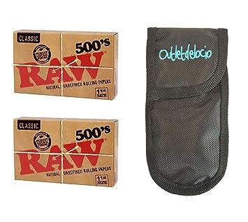 Outletdelocio. 2 librillos Papel de Fumar Raw Classic 500 Hojas. 1 1/4