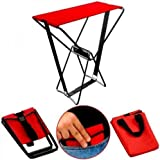 Handy Folding Pocket Chair Seat Stool With Carry Bag For