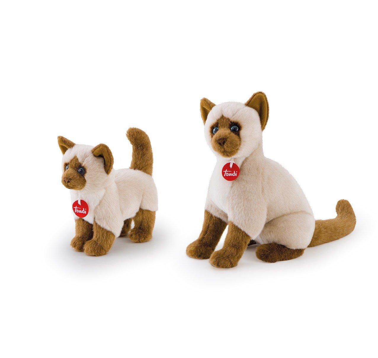 Amazon.com: Trudi - 10633 - Peluche - Chat Siamois Greta - 21 Cm: Toys & Games