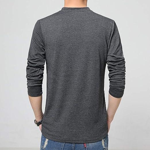 JiaMeng Cuello Alto para Hombre Camiseta de Manga Larga Blusa Pura Top de Punto de Hombre Sudadera para Hombre Prendas de Punto Invierno Cachemira: ...