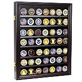 Military Challenge Coin Display Cabinet Rack Shadow Box Wood