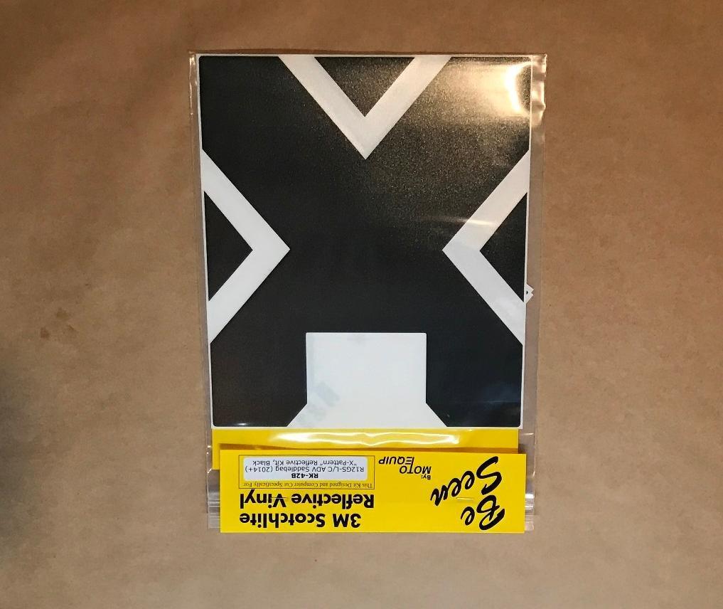 BMW R1200GS ADV 2014+ Black Reflective X-pattern Tape Kit for Adventure bags ME RK-42B