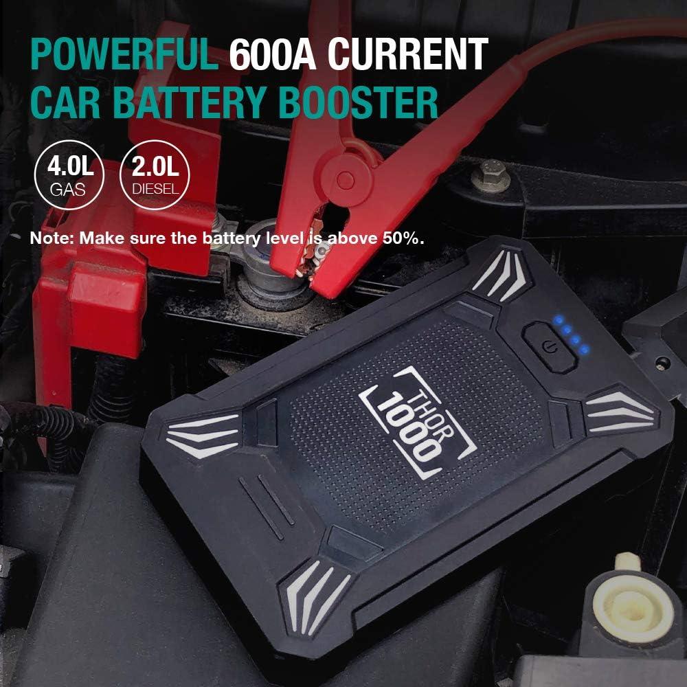 EU EBTOOLS Car Jump Starter Power Bank Car Auto Emergency Start Power Fuente de alimentaci/ón Bater/ía port/átil 20000mAh 110-240V