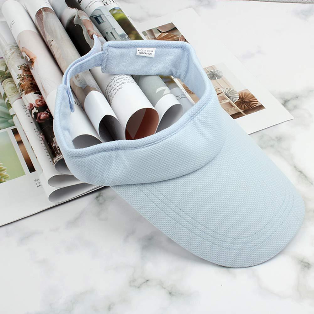 Azul algod/ón WDILO Sombrero de Verano Salvaje de Viaje de Moda Sombrero de Sol Visera Exterior de b/éisbol Capucha Largo Ahorro vac/ío Sombrero Ajustable