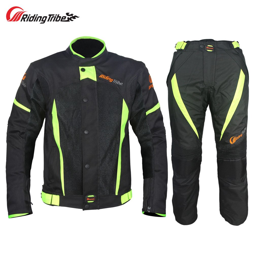 Riding Tribe JK-37 Motorcycle Racing Jecket and Pants Suit with Waterproof Liner (M)