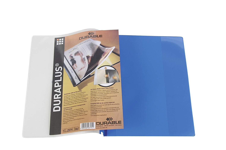 Durable 257904 Angebotshefter Duraplus mit Sichttasche f/ür A4 25er Packung gelb