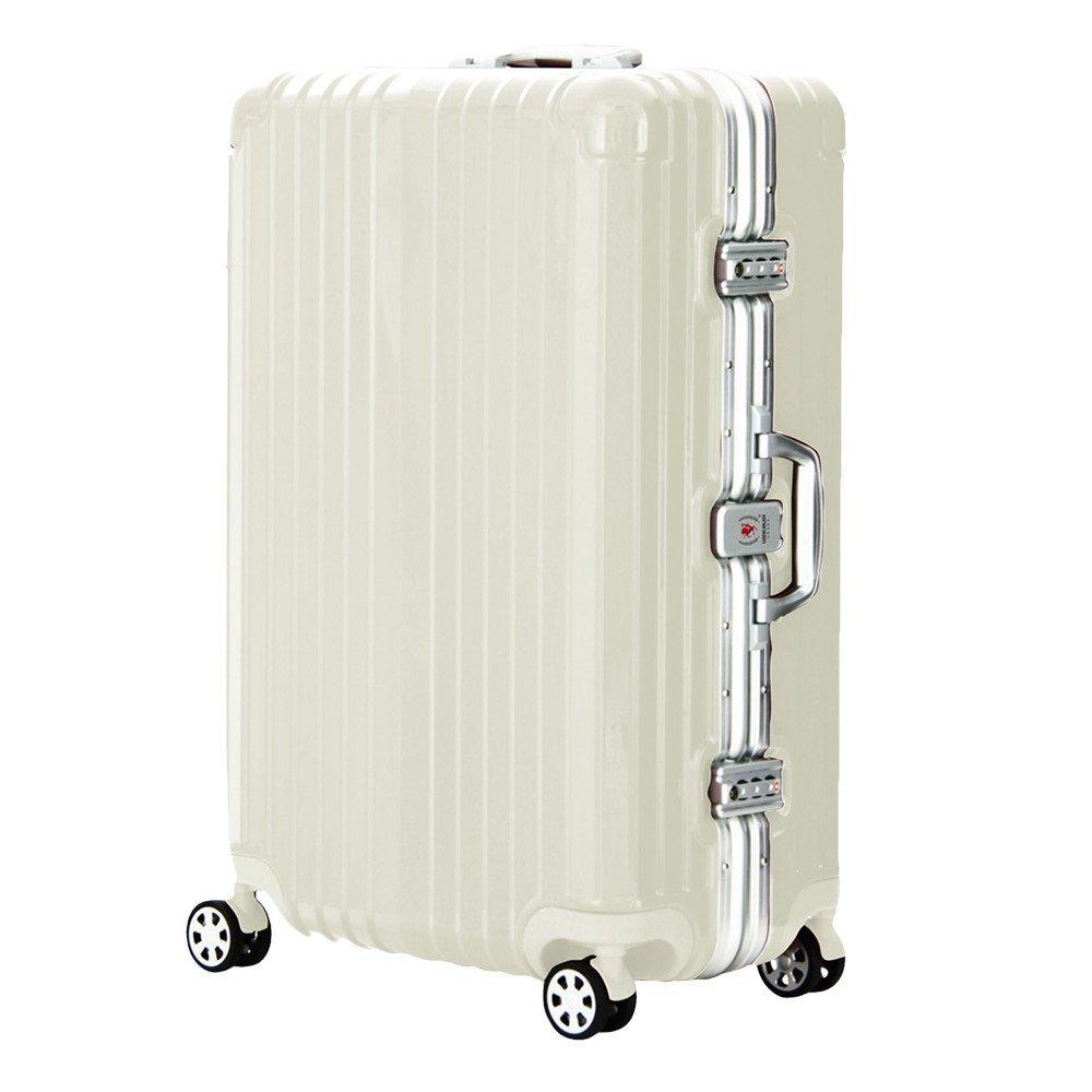 LEGEND WALKER PREMIUM GRAND BLADE ブレイド スーツケース ハードケース キャリーケース 遺失物発見サービス OKOBAN 4輪 TSAロック 90L 5601-71 (アイボリー) B01GPWONX6
