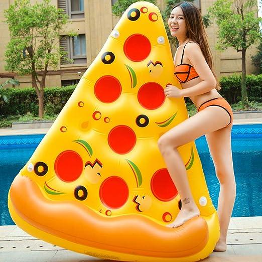 QIHONG - Flotador de Pizza Inflable para Piscina, Piscina al Aire ...