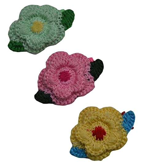 Amazon Baby Girls Maeve Crochet Flower Hair Clip Set By Funny