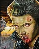 Viva Las Vegas by Randy Drako Undead Elvis Zombie Monster Tattoo Fine Art Print