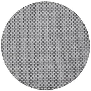 Silver Grey Wipeable Charger-Center Round Placemat