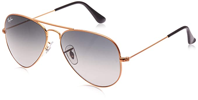 Ray-Ban Aviator Large Metal, Gafas de sol para Hombre, Marrón (Grey Gradient), 55