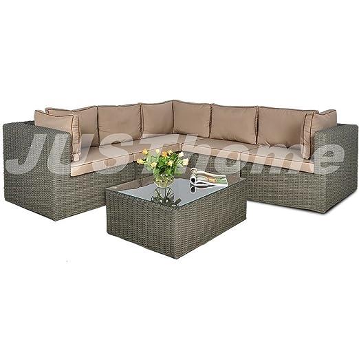 JUSThome Rodos VI Conjunto de muebles de jardín 1x Sofá-banco ...