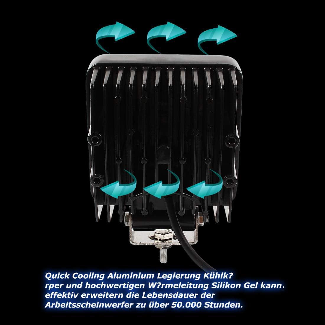 Miracle Led 48w Arbeitsscheinwerfer Arbeitsleuchte 3800lm 6000k 67ip Traktor Bagger Nebelscheinwerfer 4 Stück Beleuchtung