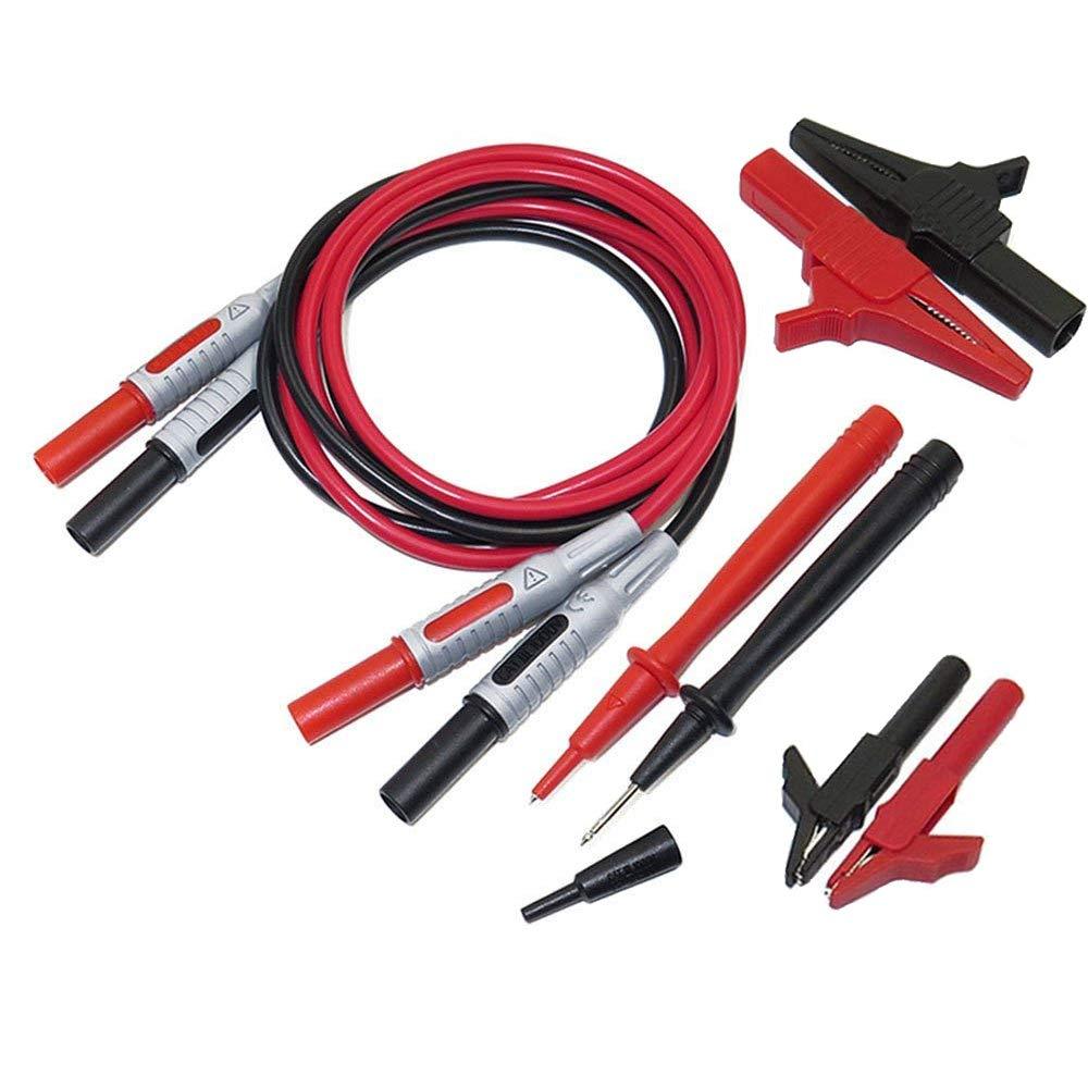 Gasea 8 in 1 Universal Multimeter Probe Test Lead Kit P1600A Banana Plug Test Cable Probe Set