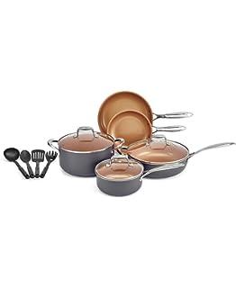 Crux 12-Pc. Copper Titanium Cookware Set