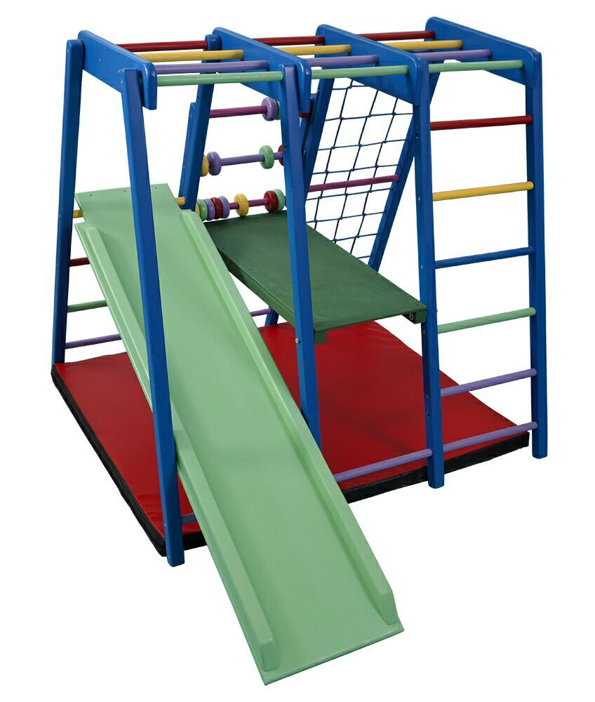 FunnyClouds Kinder Aktivitätsspielzeug Kletterturm mit Rutsche Paint Spielcenter Spielplatz Klettergerüst Activity Fitness Center Motorik Freitzeitpark Adventure