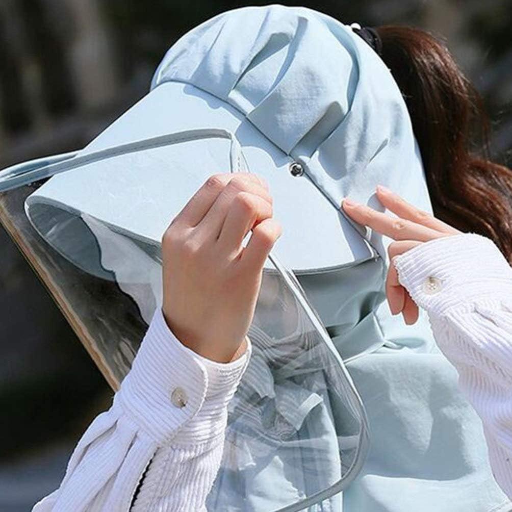 EXCEART Visiera Protettiva Cappello Trasparente Visiera Cappello Solare Protezione Visiera Protettiva Anti Saliva Antispruzzo per Uso Quotidiano Cucina Grigio Blu Taglia L