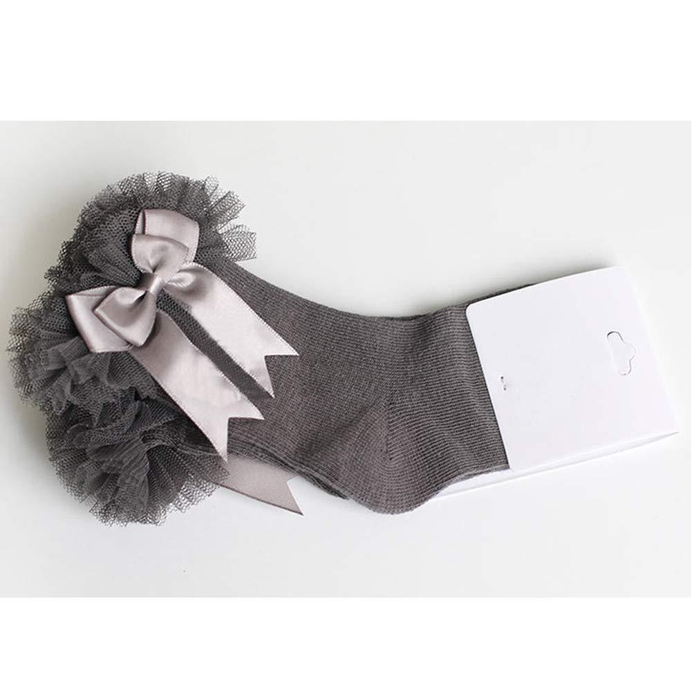 BAOBAO Baby Cute Bowknot Ankle Socks Newborn Toddler Little Girls Princess Lace Ruffle Socks
