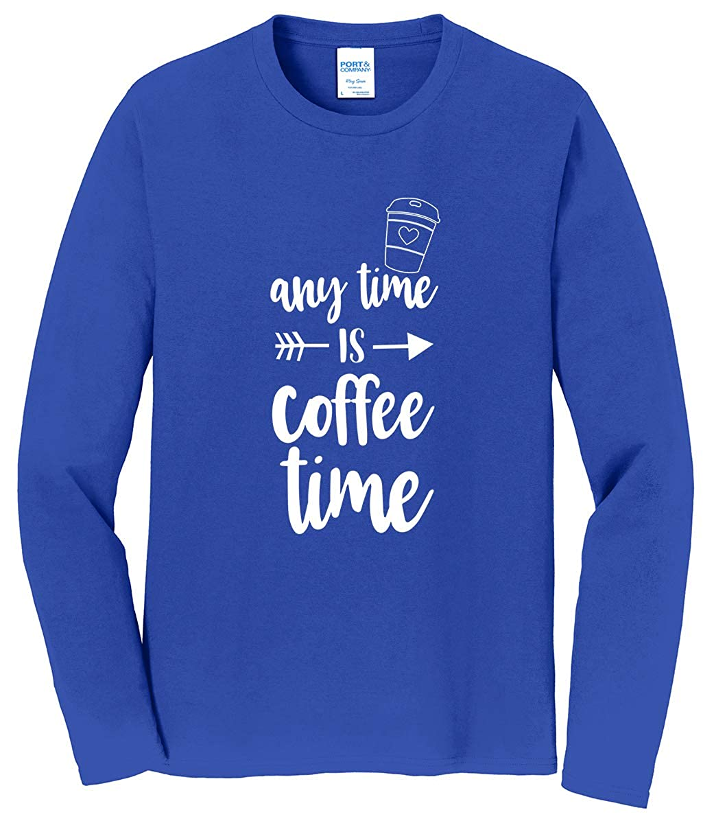 Tenacitee Mens Any Time is Coffee Time T-Shirt